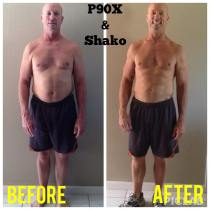 90 days of eating clean, replacing one meal a day with Shakeology, and P90X