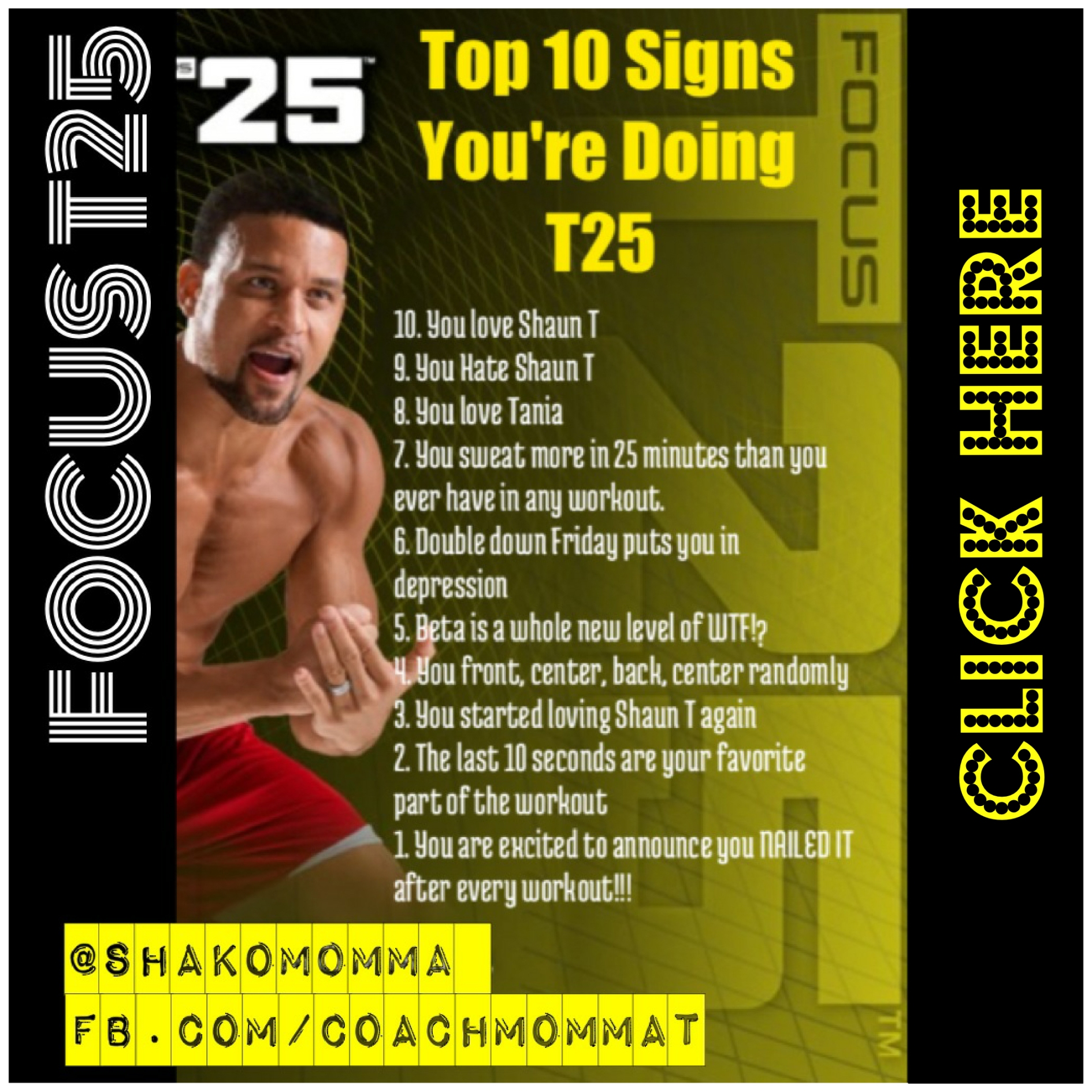 Top 10 Signs You're Doing T25