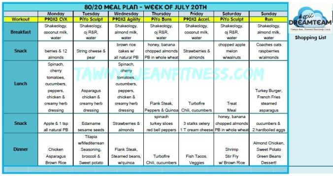 80 20 meal plan