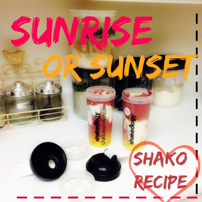sunrise sunset shako recipe